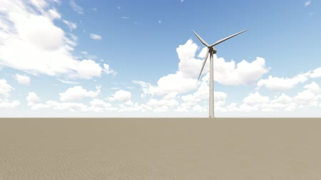 beside : Wind Turbine in desert Stock Footage