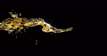 outubro : Alcohol beer jet splash on black