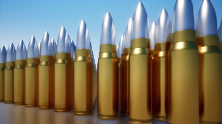 行 : A row of bullets from weapons 動画素材