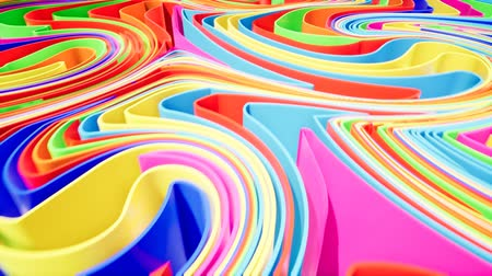 coloured : Colorful wave gradient animation.. Future geometric patterns motion background. 3d rendering