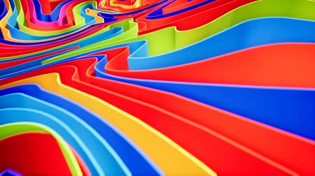 composição : Colorful wave gradient animation.. Future geometric patterns motion background. 3d rendering