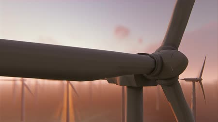 sustentável : Power generation by wind turbines Stock Footage