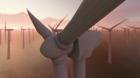 устойчивость : Power generation by wind turbines Стоковые видеозаписи