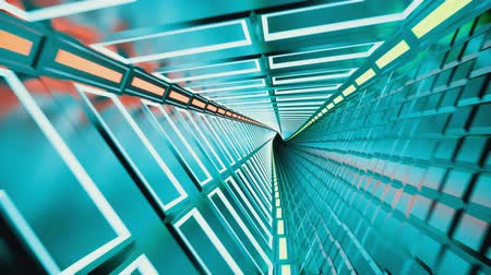 chodba : Neon tunnel 3d render abstract background