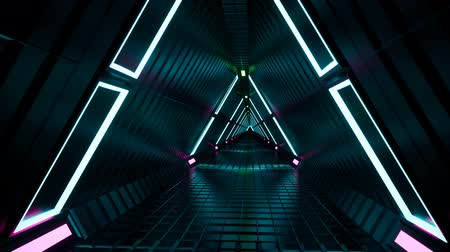 scena : Neon tunnel fluorescent ultraviolet Wideo