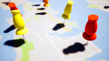 cartografia : Travel destination points, close up