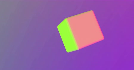 gif : Cube rotates in trend colors