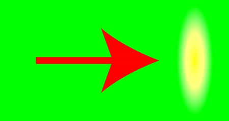 matriz : Red arrow pointer on green background