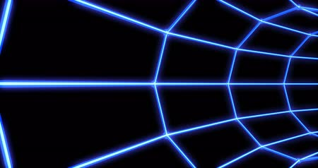 narożnik : Neon tunnel 3d render abstract seamless background, looped animation, fluorescent ultraviolet light,