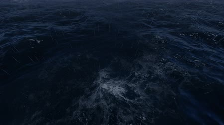 damp : Huge storm with wind and hurricane at sea