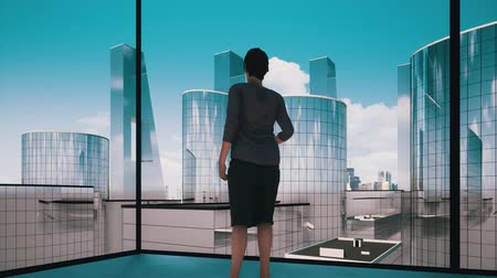 президент : Businesswoman contemplating next big business deal video concept