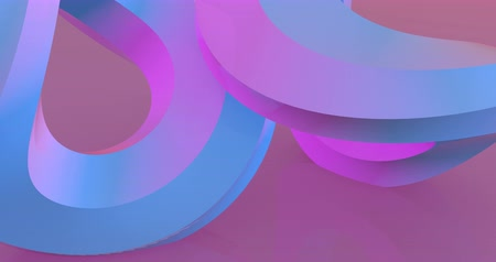 sobreposição : Two rotating pink circles 3d footage