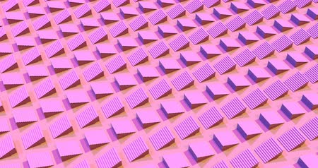 minimalismo : Moving pink staircases 3d footage