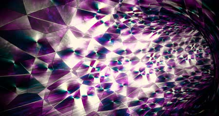 iluzja : Abstract holographic kaleidoscope 3d vortex footage