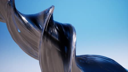 alaşım : Silver shiny swirl close up abstract 3d footage