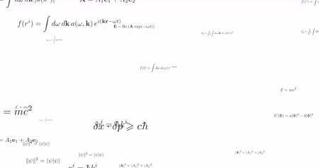 írott : Mathematical formula looped footage