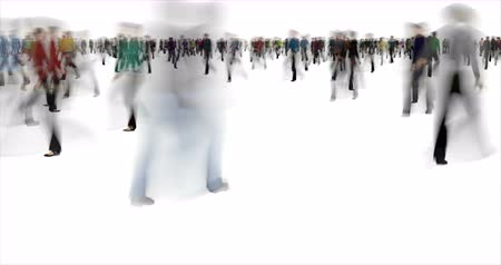 vago : Blurry crowd time lapse footage Stock Footage