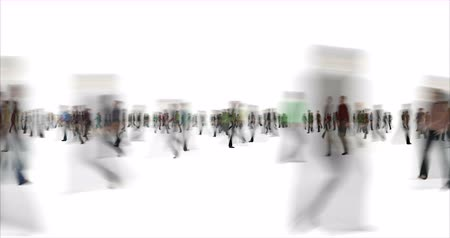 vago : Blurry people time lapse footage Stock Footage