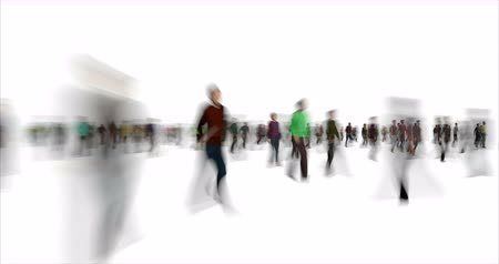vago : Blurry people figures time lapse footage