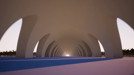 porta de entrada : Endless tunnel perspective view from inside footage