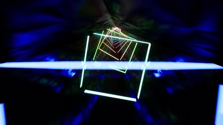 вихревой : Flying through endless neon tunnel abstract 3d footage