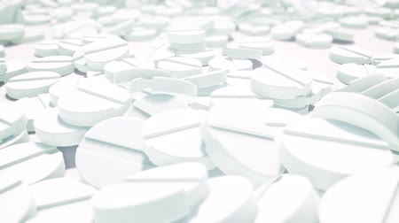 benzer : White medication tablets heap 3d animation Stok Video