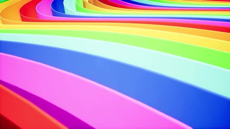 multiple lane : Rainbow color labyrinth seamless animation Stock Footage