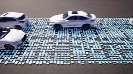 numerical code : Cars moving on road with binary code