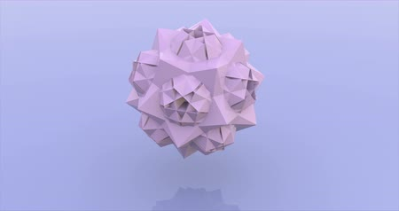 угловой : Lilac sphere consisting of triangles 3d rendering animation