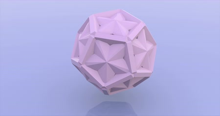 puzle : Pink hexagonal construction rotation rendering animation