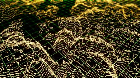 aurore boreale : Modern 3d wireframe with techno landscape for computer wallpaper design. Cyberpunk neon background concept. Yellow card motion. 3d animation. Modern cyberpunk wallpaper. Vidéos Libres De Droits