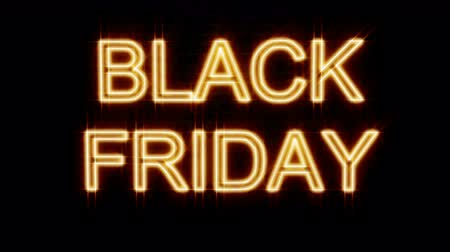 チラシ : Realistic render of flickering yellow neon sign Black Friday against a brick wall. Neon sign retro style. Neon glowing abstract background. Night party flyer. Text background. Black friday sale tag