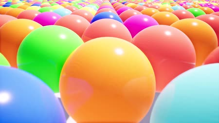 rolamento : Camera movement over a realistic field of colored plastic balls. Design element.