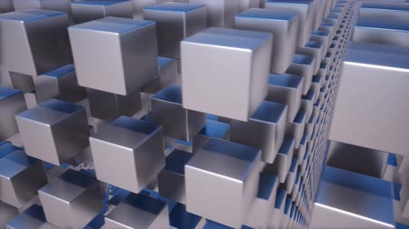 contribucion : Metallic abstract cubes boxes 3d animation