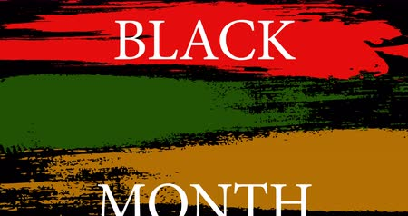 damga : American flyer with black history month on green background. American flag background. Black history month. February month. Red background. Stok Video