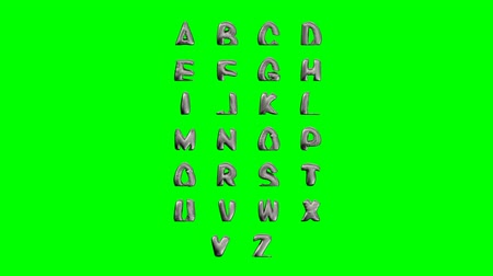 kaligrafia : Modern text abc melt, great design on green background. Fluid art. Metal liquid design element.