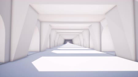 plafond : Black white corridor in modern style on soft light background. Background illustration. Concept 3d illustration. Construction background. Construction 3d architecture. 3d render illustration.