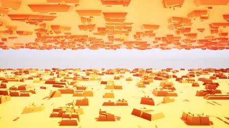 camsı : 3d orange boxes futuristic for concept design. Texture background. Abstract architecture design. business illustration. Orange abstract background. Modern orange boxes futuristic Stok Video