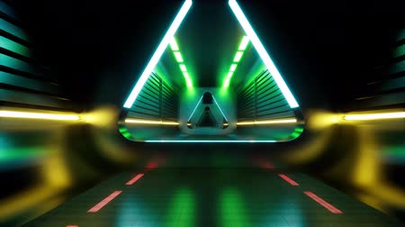 dyskoteka : Techno tunnel. Futuristic perspective grid background texture. Abstract data flow tunnel. Background, wallpaper. Futuristic matrix grid, virtual tunnel  illustration. Space tunnel. Wideo