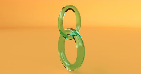 broşür : March 8. Green number eight on a yellow background Able to loop seamless