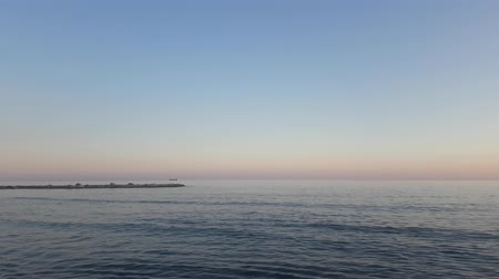 キューバ : View of the Mediterranean Sea and sunset from the shore
