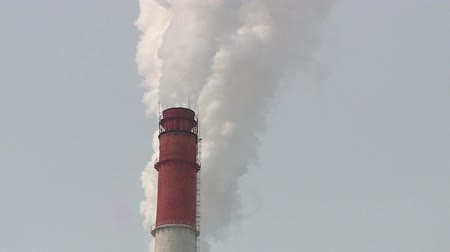 kotel : pipe thermal power station in Russia in the winter
