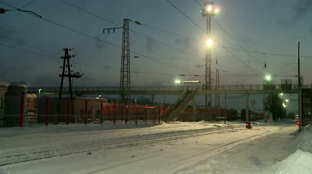 şartlar : cleaning of the railway Stok Video