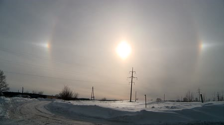 halo effect in winter