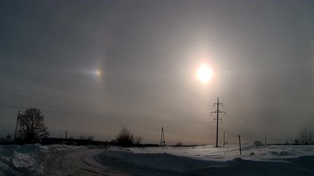 aureool : halo effect in winter
