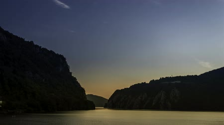mici : sunrise over the Danube Gorges Cazanele Mici