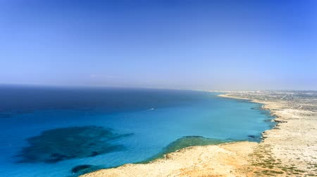 ciprus : aerial view of Ayia Napa beach, Cyprus