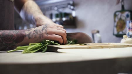 part of clip : Chopping parsley