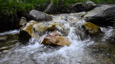 tripping : Mountain stream Stock Footage