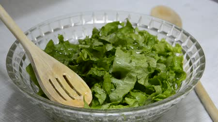 ocet : lettuce salad preparation
